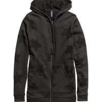 Long Hooded Sweatshirt Jacket - from H&M