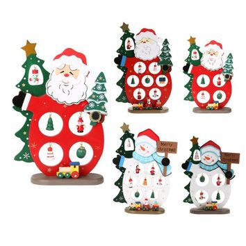 Wooden Christmas Shelf/Desk Decorations