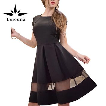 Leiouna Fashion Sleeveless Summer Black Self Portrait Womens Long Sexy Dresses Maxi Mori Girl Loose 50s Linen Dress Sundress