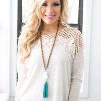 A Night in the Country Top in Oatmeal