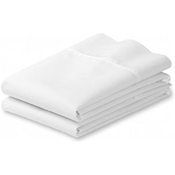 "White Standard 4"" Hems Set of 2 Pillowcases 300 Thread Count 100% Long Staple Egyptian Cotton Luxury Hotel Quality 21x32 (fits 20x26)"