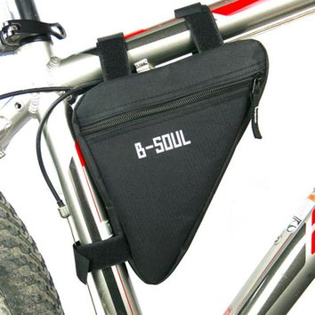 Cycling Bike Bicycle Oxford Cloth Front Frame Pannier Tube Triangle Bag Saddle Pouch 4colors Available