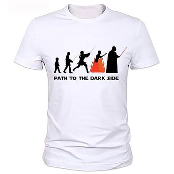 Star Wars Funny Fashion T-shirt Evolution Series T Shirt Novelty Tshirt Men Women Geek Tee Can be customized