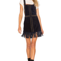 Understated Leather Hold Your Horses Pinafore Dress in Black | REVOLVE