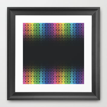 Rainbow Hexes Framed Art Print by KJ53321 | Society6