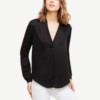 Pleated Collar Blouse | Ann Taylor