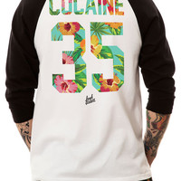 The Diet Plan Jersey Raglan in Black and White (Black Sleeves)