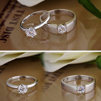 2PCS 0.6+0.65 CT Wedding rings, Wedding Couple Rings, Lovers rings, his and hers promise ring sets, wedding bands, matching rings