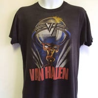 Vintage VAN HALEN T-shirt 1986/ Original 5150 Tour Tshirt/ Sammy Hagar Atlas Heavy Metal Hard Rock Tee