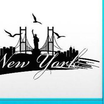 Wall Stickers Vinyl Decal New York City USA Living Room Cool Decor Unique Gift (z2069)
