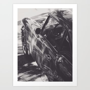 Fine art print, classic car, triumph, spitfire, b&w photo, still life, interior design, old car Art Print by Stefanoreves