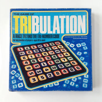 Vintage Tribulation Board Game