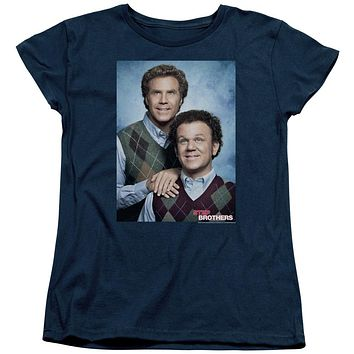 Step Brothers Womens T-Shirt Portrait Navy Tee