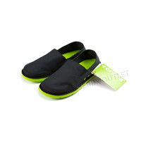 Crocs Cabo Slip On Shoes Canvas Black / Neon Green