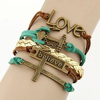 Charmin Multilayer Charm Leather Bracelet