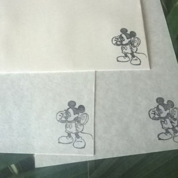 Mouse stationery Set 1 5 10 parchment paper letter writing and envelope hand stamped old detective handmade card adult coloring