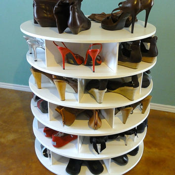 Lazy Susan Shoe Rack - 4 Tier - Stores 34 - 40 Pair - FREE SHIPPING!