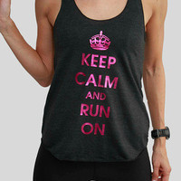 Electric Cherry Keep Calm Tank