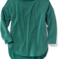 Relaxed Sparkle-Knit Top for Girls | Old Navy