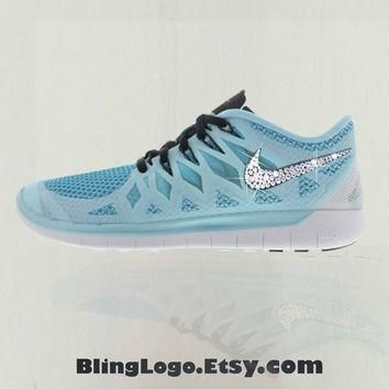 Nike Free 5.0 Shoes With Swarovski Crysral Rhinestones - Bling Nikes, Bling Shoes, Bl