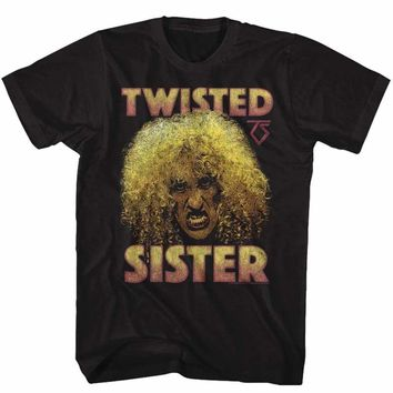 TWISTED SISTER-DEE-BLACK ADULT S/S TSHIRT