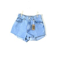 Waist 29 High Waisted Vintage Cutoff Shorts by thedaisies on Etsy