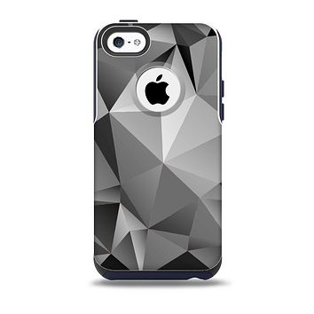 The Vector Black & White Abstract Connect Pattern Skin for the iPhone 5c OtterBox Commuter Case