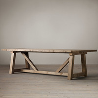 Salvaged Wood Beam Extension Table