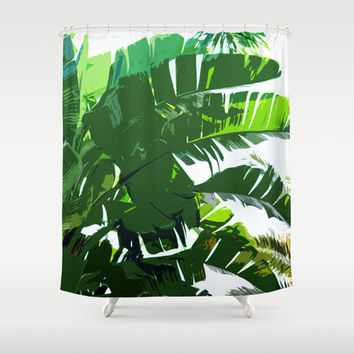 Banana Palms - Shower Curtain