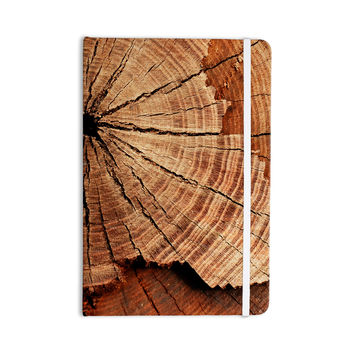 "Susan Sanders ""Rustic Dream"" Brown Wood Everything Notebook"