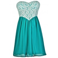 Lily Boutique Teal Lace Dress, Turquoise Lace Dress, Teal and Ivory Lace Dress, Turquoise and Ivory Lace Dress, Cute Teal Dress, Teal Lace Party Dress, Teal Lace Summer Dress Lily Boutique