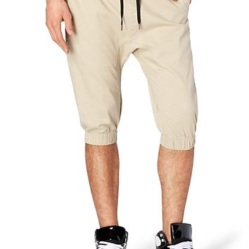 Mens Khaki Jogger Shorts - The Else
