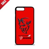 Top Dodge Challenger Demon Logo iPhone 7 and 7 Plus Hard Protect Case