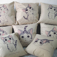 8Types U pick Retro Chic Cartoon Cat Series Pillowcase Christmas Classic Pillowcase Home Bed Room Sofa Decor Pillows