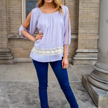 Free To Be Me Lavender Top