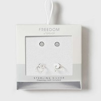 Sterling Silver Ball Earrings | Topshop