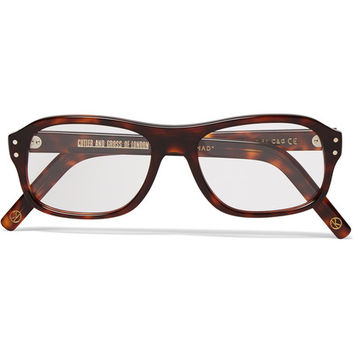 Kingsman - + Cutler and Gross Square-Frame Tortoiseshell Acetate Optical Glasses