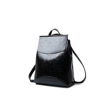 Comfort College On Sale Back To School Casual Hot Deal Korean Stylish Leather Travel Backpack [4982893636]