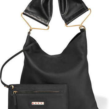 Marni - Maxi Strap textured-leather tote