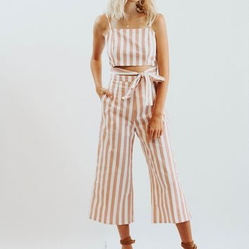 Maeve Pink Vertical Stripe Jumper