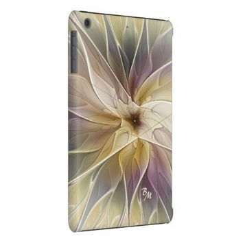 Floral Fantasy Pattern Abstract Fractal Monogram iPad Mini Retina Case