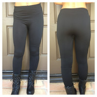 Arctic Fur Lined Leggings - BLACK