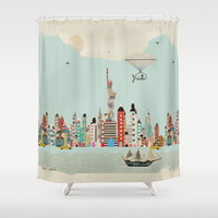 visit new york Shower Curtain by Bri.buckley