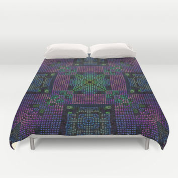 Twilight Mosaic Duvet Cover by Lyle Hatch | Society6