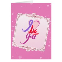 Pink Valentine's Day Greeting Card
