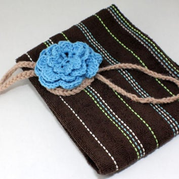 Rose TOWEL topper and towel hanger - crochet towel holder - kitchen gift - towel holder