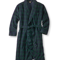 Scotch Plaid Flannel Robe, Lined