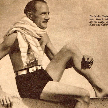Instant download-Mens 1930s vintage knitting pattern for swimming, bathing trunks,shorts, pdf email