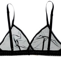 Airplay Sheer Bralette in Midnight | Luxurious Sheer Mesh Lingerie | Between the Sheets Designer Intimates