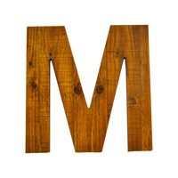 Wooden Letter M Wall Décor.